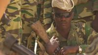 Close up of Chadian soldier taking part in Operation Flintlock