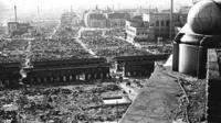 Aftermath of WWII US bombing of Tokyo, 9-10th March 1945