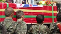 The coffin of Konstandinos Erik Scurfield