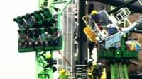 People stranded on rollercoaster