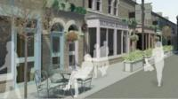 An artist's impression of the proposed indoor food market in Middlesbrough