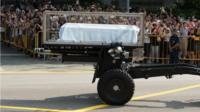Lee Kuan Yew's coffin