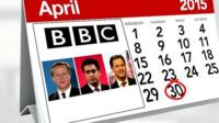Election debate date marked on calendar