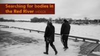 Frozen Red River - Winnipeg, Canada