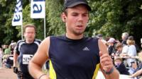 Picture released on 27 March 2015 shows Andreas Lubitz taking part in the Airport Hamburg 10-mile run in September 2009 in Hamburg, northern Germany