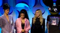 l-r Rihanna, Nicky Minaj, Madonna, Deadmau5 at Tidal re-launch