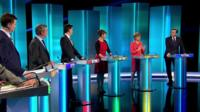 SNP leader Nicola Sturgeon speaking during leaders' debate