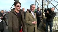 Joey Essex and Nigel Farage
