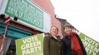 Natalie Bennett (left) and Caroline Lucas (right) both said more should be done to combat climate change