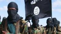 Al-Shabab fighters in Somalia