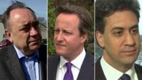 composite image of Salmond, Cameron and Miliband