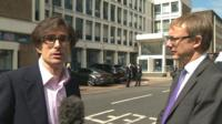 The BBC's Robert Peston (left) and Paul Johnson of the Institute for Fiscal Studies