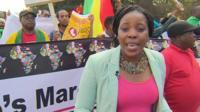 Nomsa Maseko at anti-xenophobia march