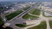 Runway at Heathrow airport
