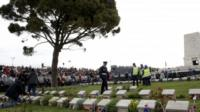 The Anzac cemetery at Lone Pine - 25 April