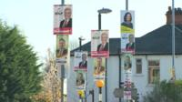 Various Northern Ireland political party posters
