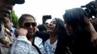 Indonesian police escort Brintha Sukumaran