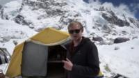 Thomas Martienssen at Everest base camp on April 18 2015
