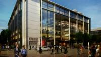 artist impression of planned BBC headquarters in Cardiff