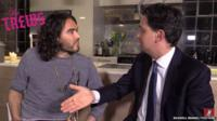 Still from Ed Miliband's interview with comedian Russell Brand