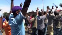 Protesters in Burundi