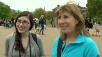 People outside Kensington Palace gave their opinion on the choice of name