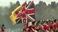 Napoleonic Association flags in Nottingham