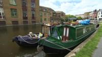 Houseboats in Hackney, London