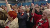 The Labour Party cheer in Houghton and Sunderland South
