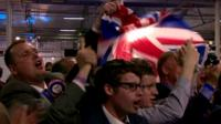 DUP supporters celebrating