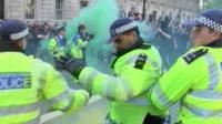 Police being attacked