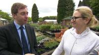 The BBC's Ben Wright speaks to people in Stevenage