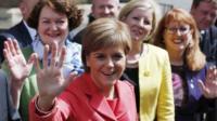 Nicola Sturgeon and newly elected MPs