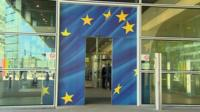 Doors opening and closing in EU building