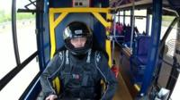 Bus driver on 'cow poo' bus