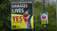 Gay marriage referendum posters
