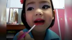 أصغر خبيرة تجميل محترفة في العالم عمرها 10 سنوات.