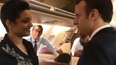 التقاها صدفة: ماكرون يصطحب شابة تونسية في طائرته