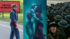"""Fotogramas de """"Tres anuncios por un crimen"""", """"La forma del agua"""" y """"Dunkerque"""" (Foto: IMDB)"""