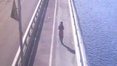 فتاة كورية تحاول الانتحار من فوق أحد الجسور على نهر هان