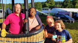 Ayshah at the Bristol Balloon Fiesta