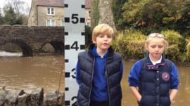 Two children from Bristol