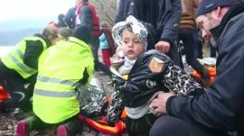 Child refugee gets assistance