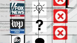 Graphic showing news outlet logos