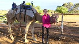 Anna with her camel