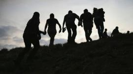 Undocumented migrants in the US