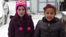 Zara and Julia from Washington DC tell us what it's like living there with all that snow.