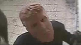 Suspected robber in Donald Trump mask
