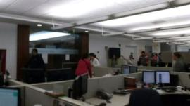 Buildings have been evacuated in the capital, Mexico City, after a strong earthquake.