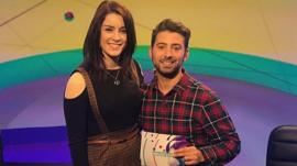 Lucie Jones and Ricky